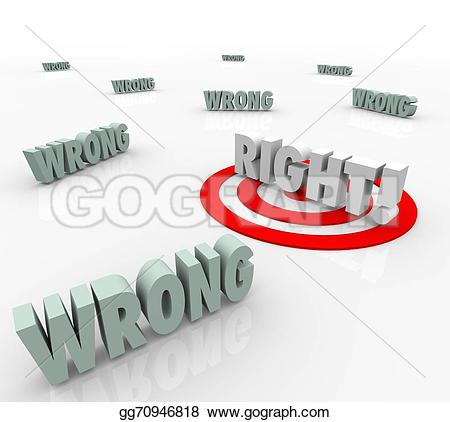 Choice clipart right wrong #2