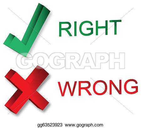 Choice clipart right wrong #6