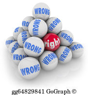 Choice clipart right wrong #4