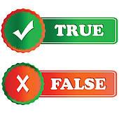 Choice clipart true false #5