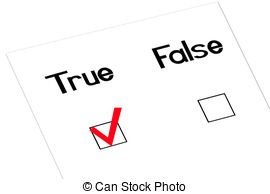 Choice clipart true false False a True Illustrations and