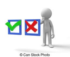 Choice clipart true false #4