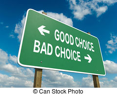 Choice clipart two road And  choice bad