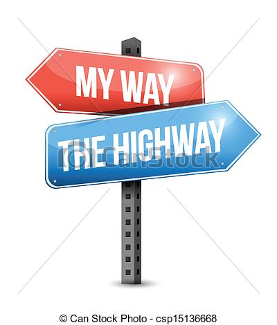 Choice clipart two road Signs my way highway or