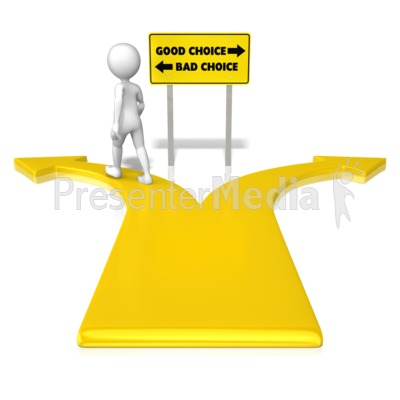 Choice clipart two road And ID# Great Bad Clipart