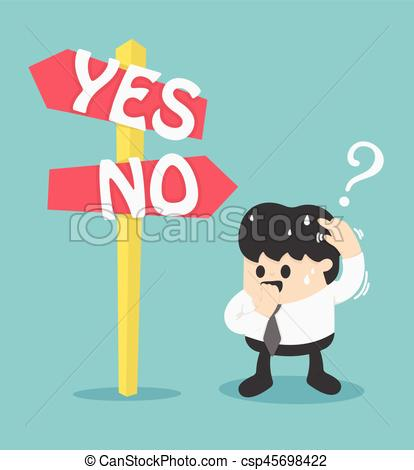 Choice clipart two road Road Vector yes signs or