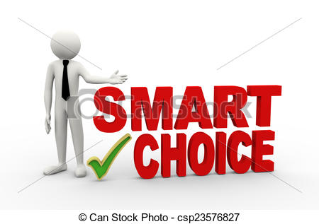 Choice clipart word With rendering word word 3d