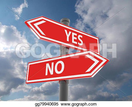 Choice clipart yes or no Gg79940695 Two yes Stock choice