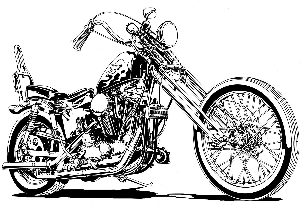 Chopper clipart Art Motorcycle Free Clip Art