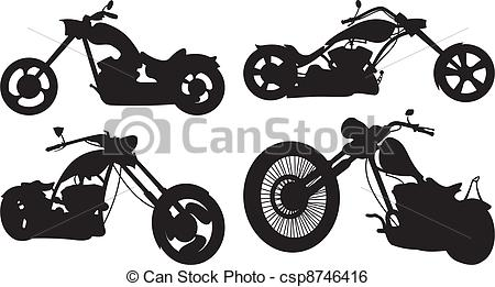 Chopper clipart  chopper chopper Vector bike