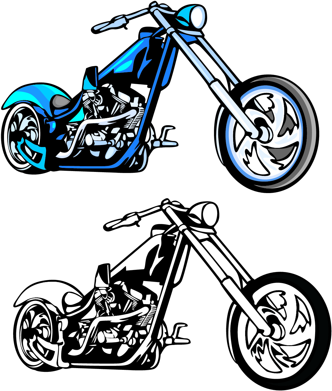 Harley Davidson clipart silhouette #14
