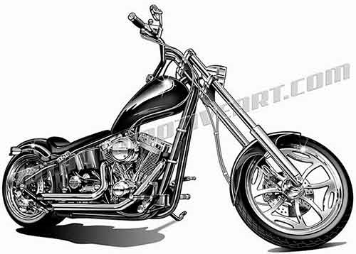 Chopper clipart Clipart image harley chopper one