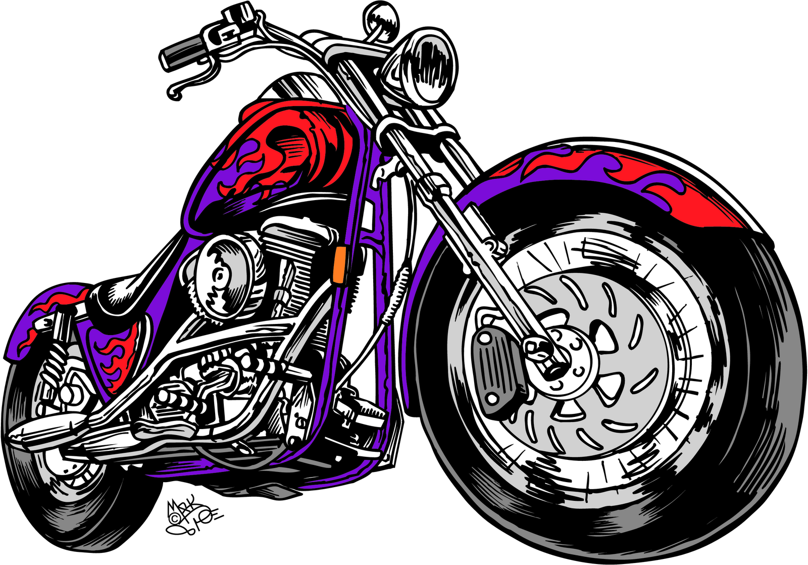 Engine clipart steam train Chopper chopper Motorcycle art clipart
