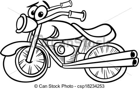 Chopper clipart harley motorcycle Page or bike and Black