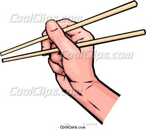 Chopsticks clipart Vector art with chopsticks chopsticks