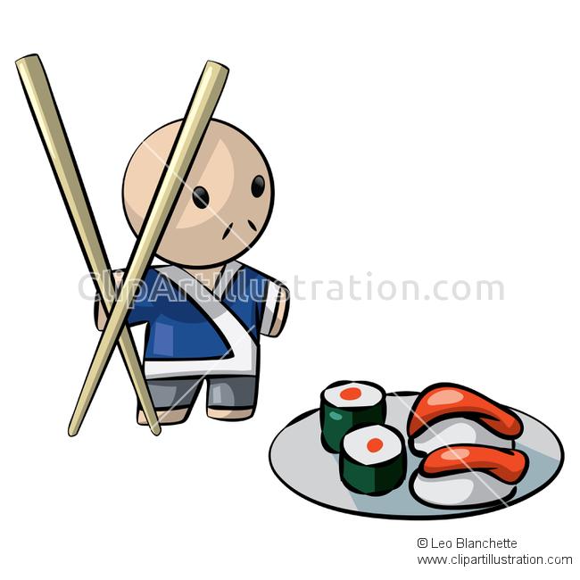 Sushi clipart japanese chopstick ClipArt Man Illustration Pair Man