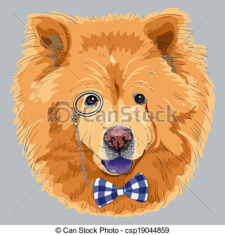 Chow Chow clipart Vector funny Clipart funny