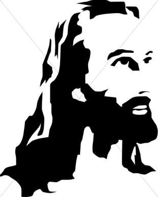 Christ clipart Art Clip Jesus Black And