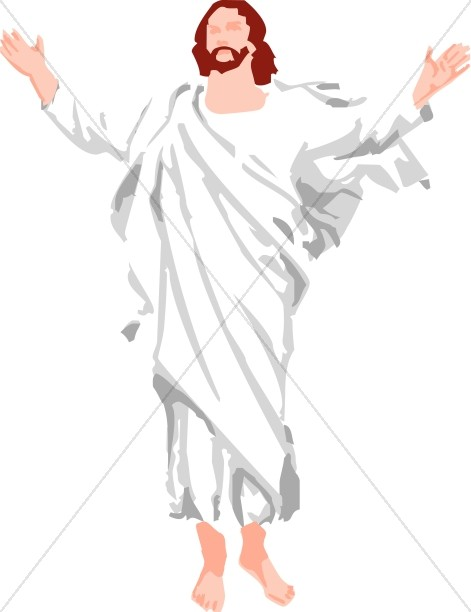 Simple clipart jesus #8