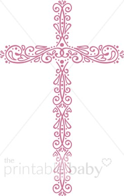 Christ clipart pink cross Cross Ornate Clip Christian Baby