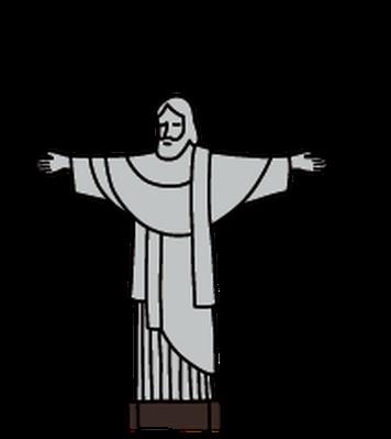 Christ The Redeemer clipart Landmarks  Social Clipart the
