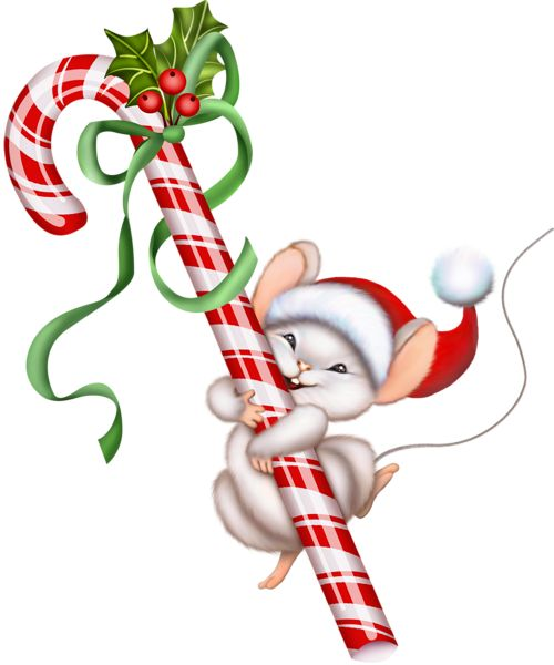 Candy Cane clipart kawaii Clip Cane… Mouse Art Christmas