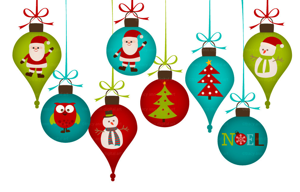 Christmas clipart Christmas ornament Art clipart happy