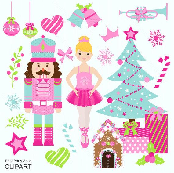 Ballerina clipart christmas #4