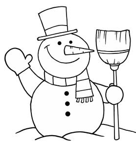 Black & White clipart snowman Clipart Black Christmas and Christmas