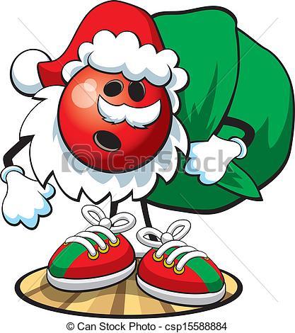 Bowling clipart santa claus Clipart Bowling  Christmas