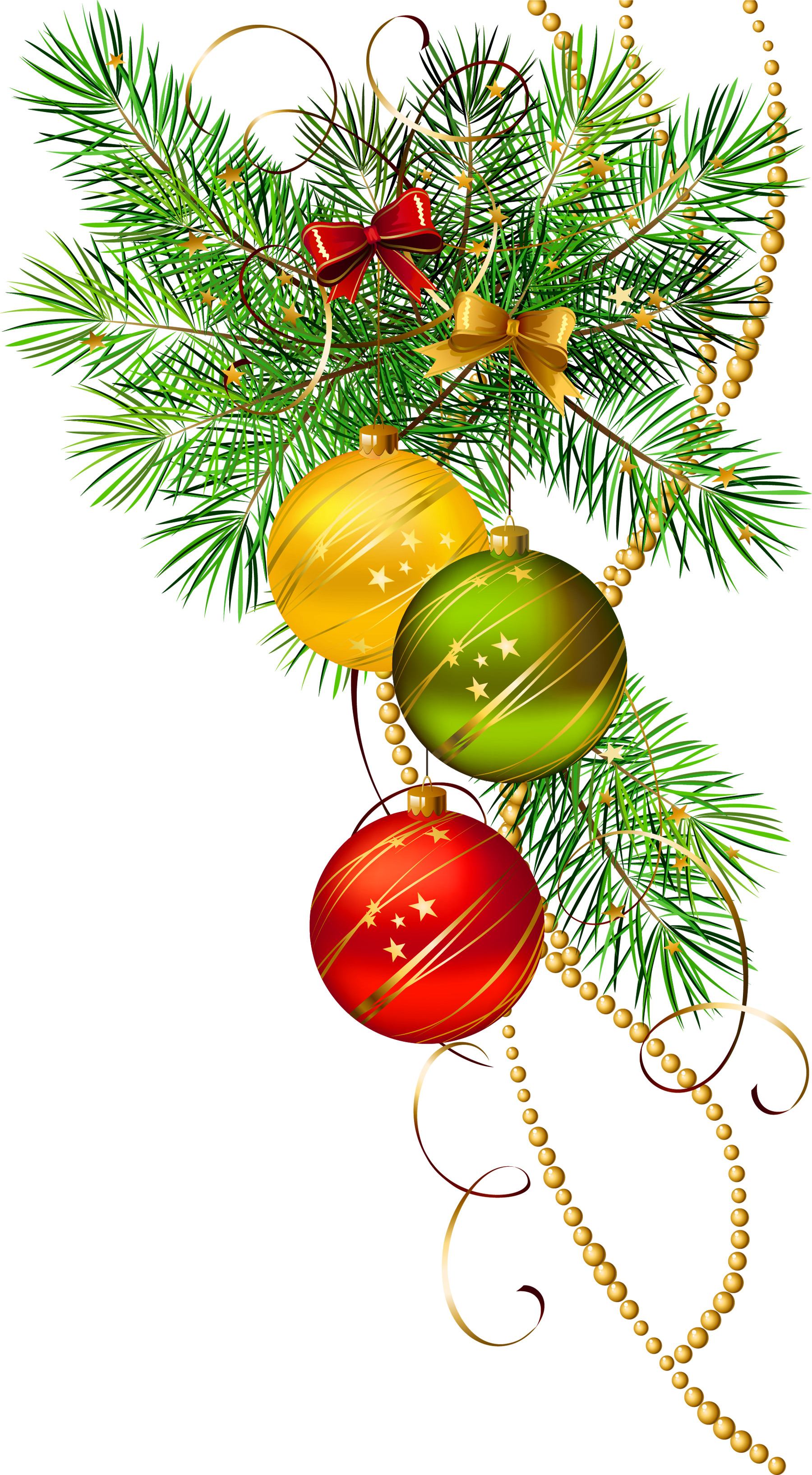 Branch clipart christmas  Balls size Three Gallery