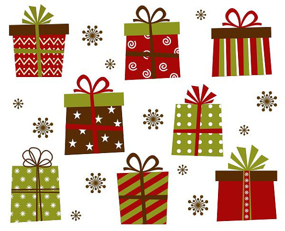 Reindeer clipart presents Christmas Giftboxes Giftboxes by Art