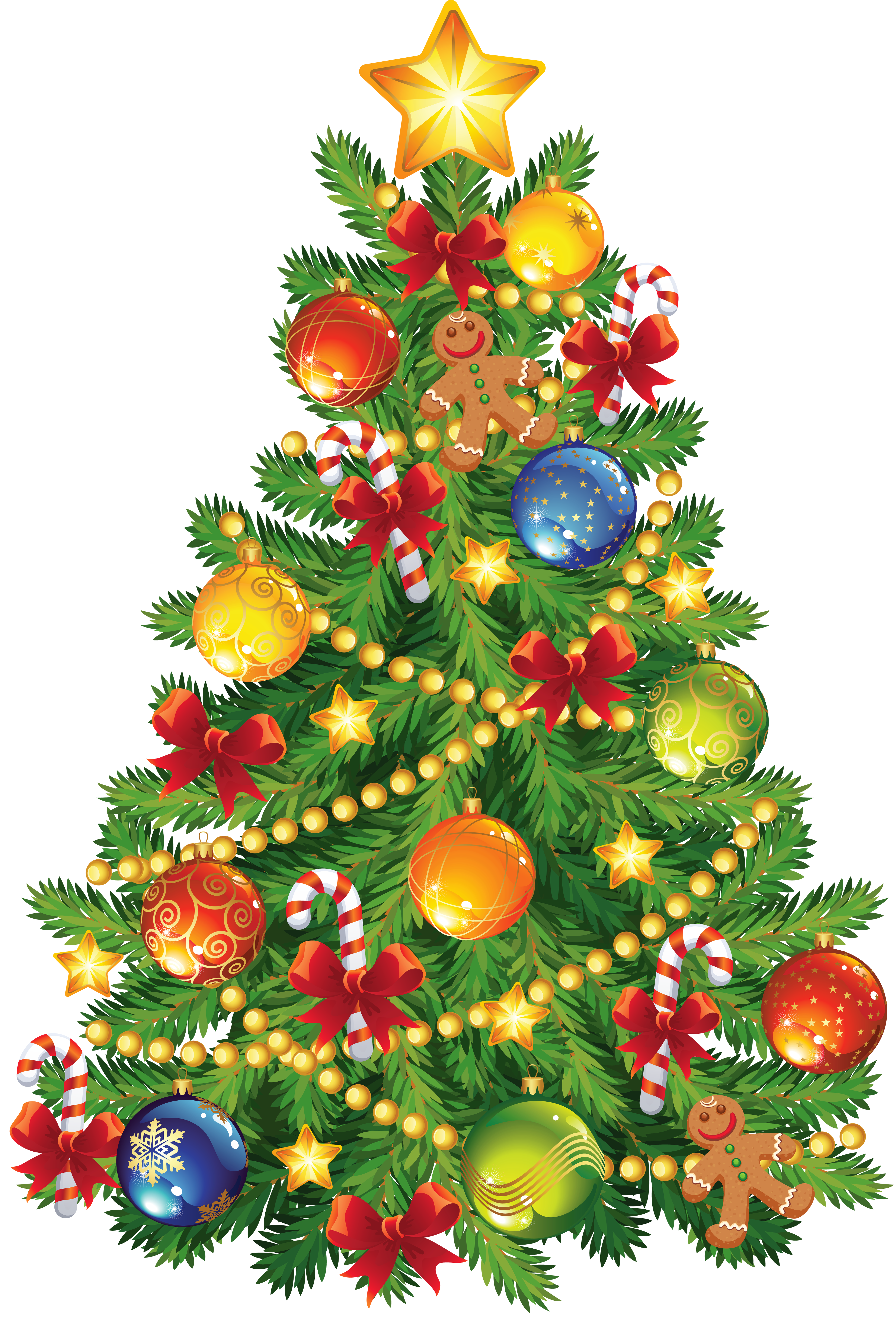 Christmas Tree clipart decorative Christmas ornament with Large tree