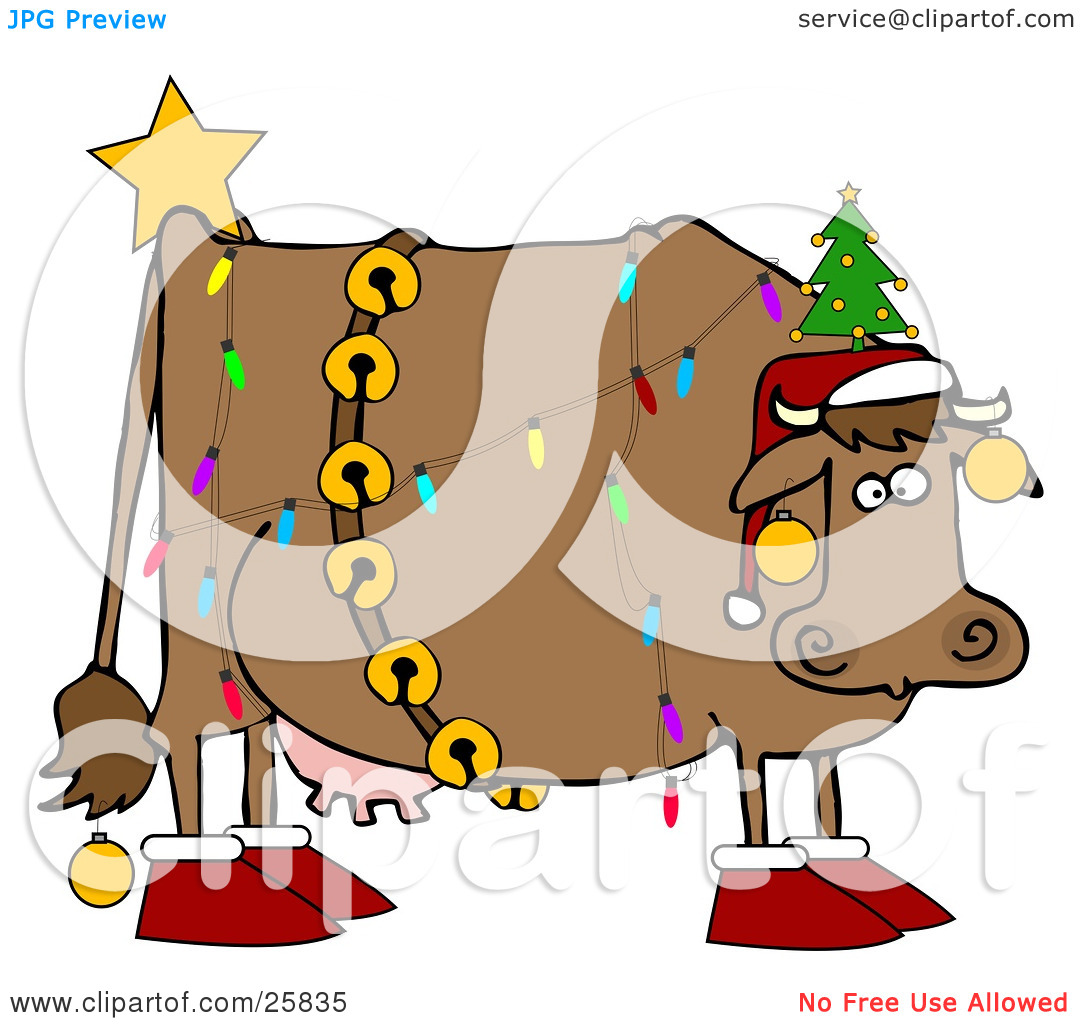 Cattle clipart christmas #6