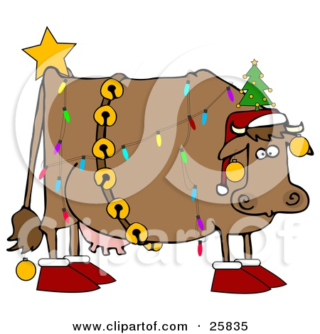 Cattle clipart christmas #4