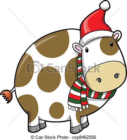 Cattle clipart christmas #2
