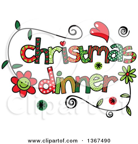 Word clipart dinner Dinner christmas Art collection Clipart