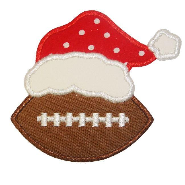 Football clipart christmas Images Sports etc best Applique