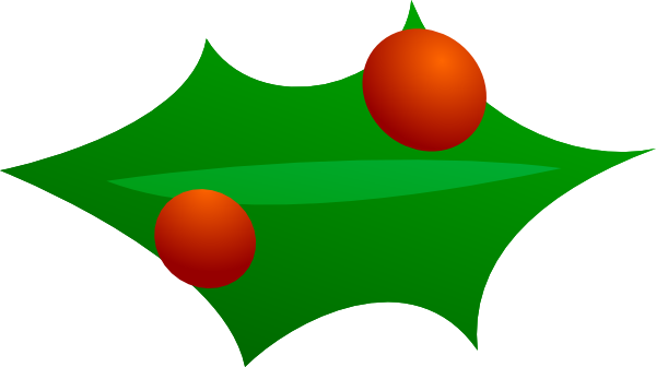 Leaves clipart xmas #4