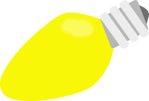 Bulb clipart yellow thing Clker  Clip com vector