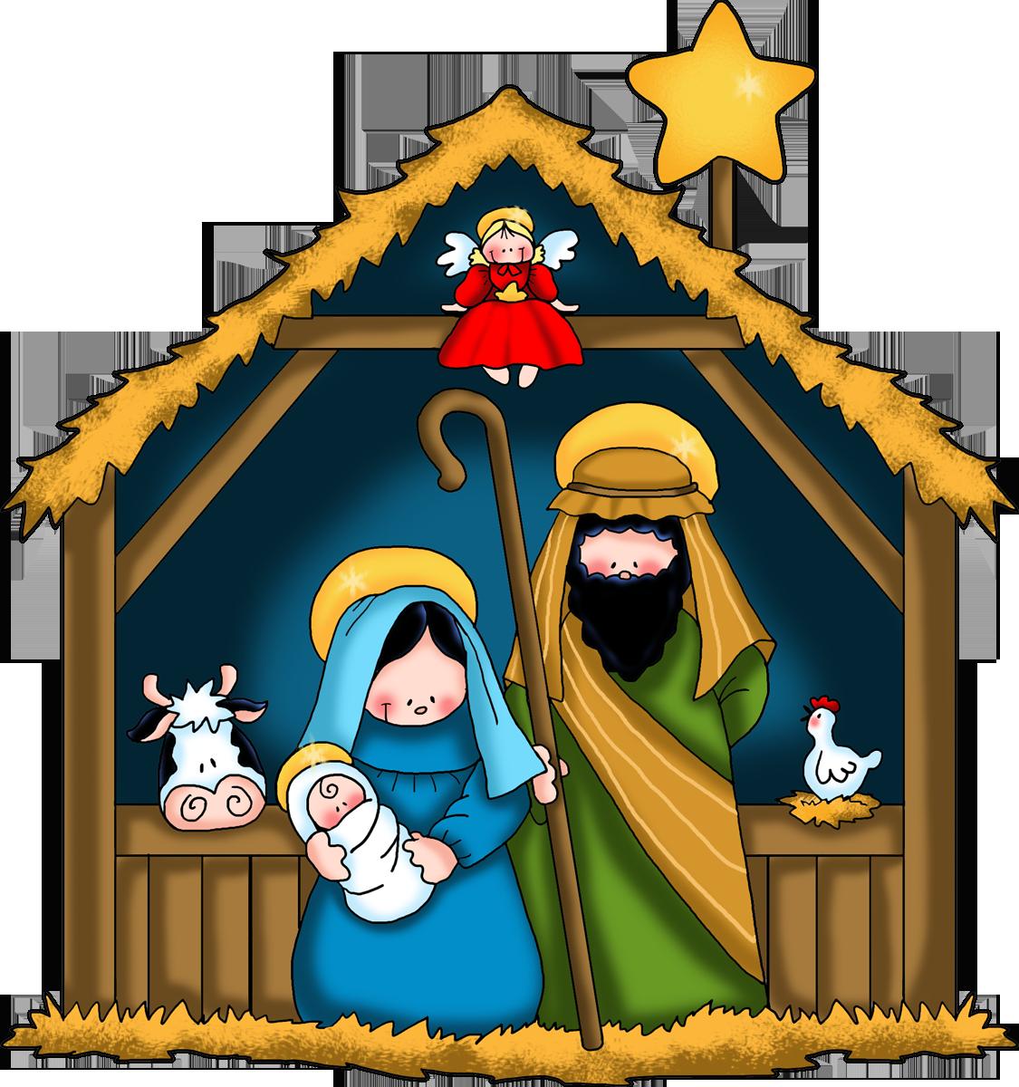 Gingerbread clipart nativity Black clip free Nativity free
