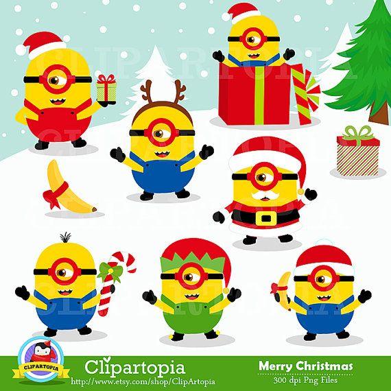 Santa clipart minion #4