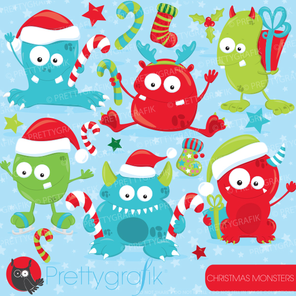 Monster clipart christmas Illustrations Monsters : Christmas and