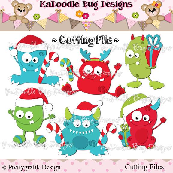 Monster clipart christmas Clip Digi Art Kadoodle Bug