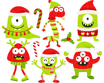 Monster clipart christmas Toppers Making Paper Clip Art