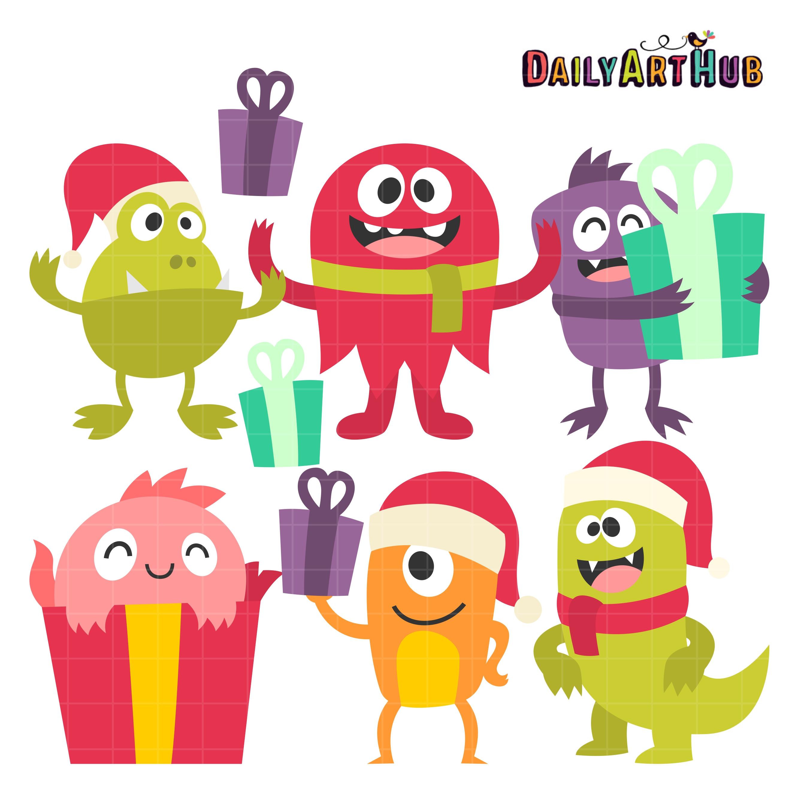 Monster clipart christmas Art Monsters Clip Christmas Daily