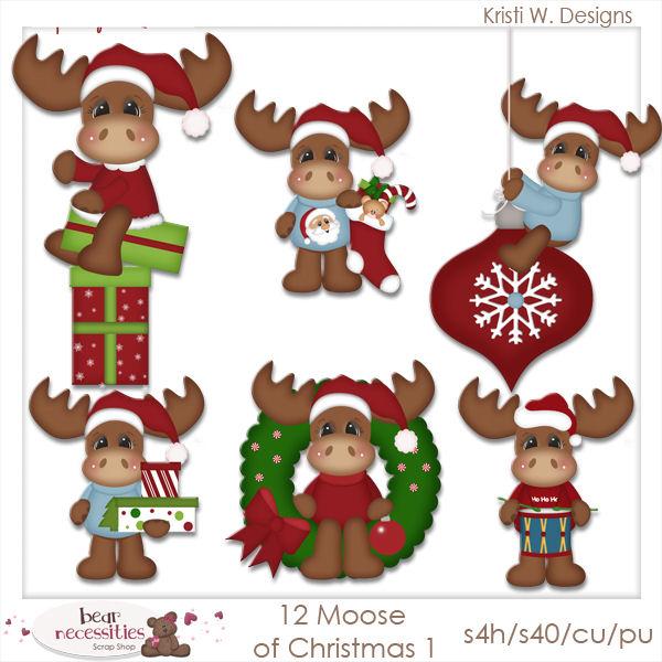 Moose clipart santa #2