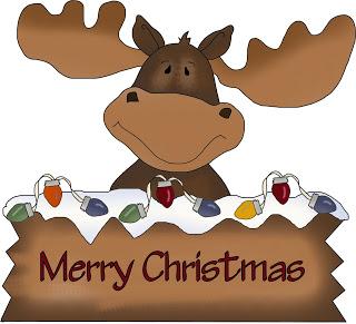 Moose clipart santa #1