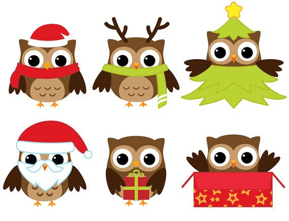 Owlet clipart winter / Bear Christmas ideas Best