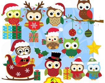 Owl clipart reindeer Etsy crafts clipart Commercial Use